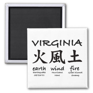 Virginia Earth Wind FIre Magnet