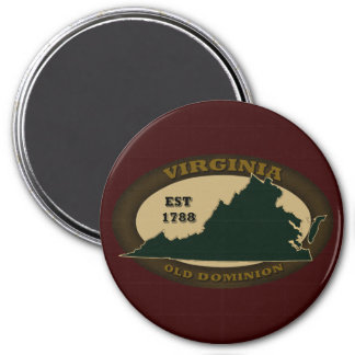 Virginia Est. 1788 Imán Redondo 7 Cm