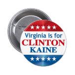 Virginia está para Clinton Kaine Pin Redondo De 2 Pulgadas