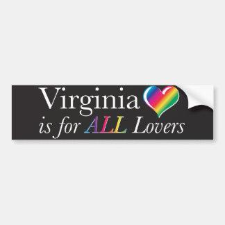 Virginia está para TODA LA pegatina para el parach Pegatina De Parachoque