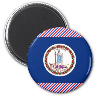 Virginia Flag 2 Inch Round Magnet