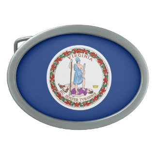 Virginia Flag Belt Buckle