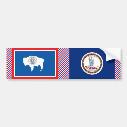 Virginia Flag Car Bumper Sticker
