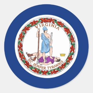 Virginia Flag Classic Round Sticker