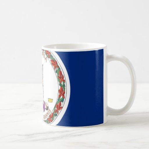 Virginia Flag Classic White Coffee Mug