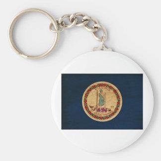 Virginia Flag Keychain