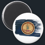 """Virginia Flag Magnets<br><div class=""""desc"""">Original flag design looks like it was painted right on the magnet! Commemorate your world travels, celebrate your heritage or show everyone how much you love your home! This image is available on a variety of products. Check out all of our other designs at http://www.zazzle.com/zipperedflags Do you have a request...</div>"""