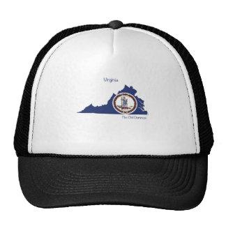 Virginia Flag, Map and Slogan spirit wear Trucker Hat