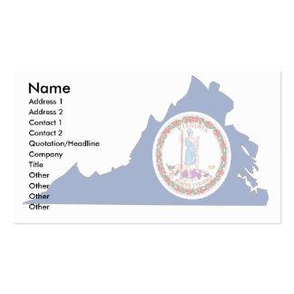 Virginia Flag Map Business Cards