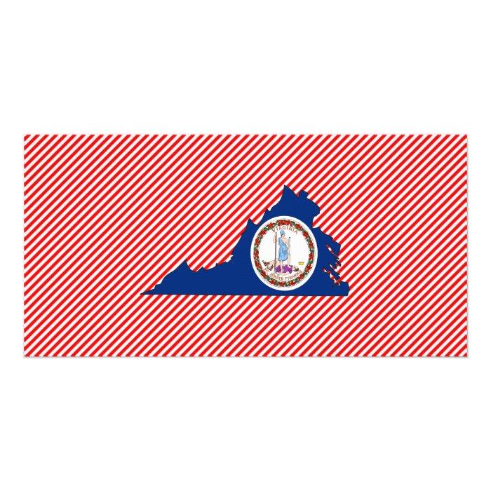 Virginia Flag Map Card