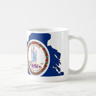 Virginia Flag Map Coffee Mug