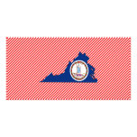 Virginia Flag Map Picture Card