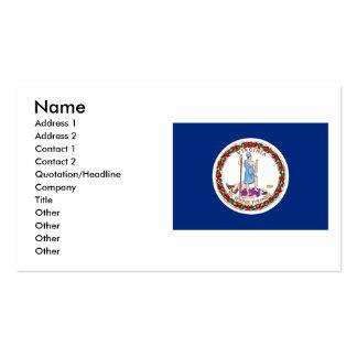 Virginia Flag, Name, Address 1, Address 2, Cont... Business Cards