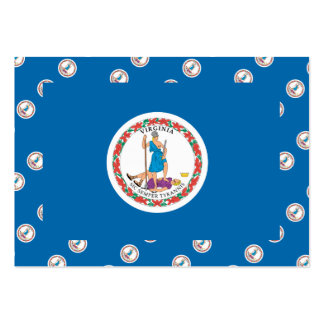 VIRGINIA Flag Pattern Business Cards