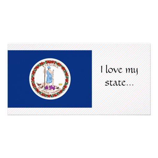 Virginia Flag Personalized Photo Card