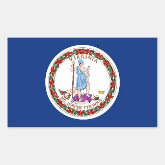 Virginia Flag Rectangular Sticker