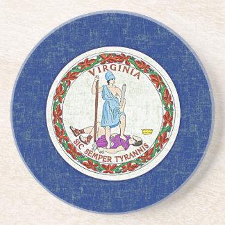 VIRGINIA FLAG SANDSTONE COASTER