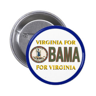 VIRGINIA FOR OBAMA Button