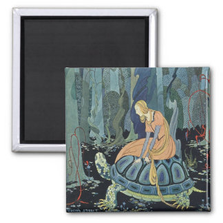 Virginia Frances Sterrett French Fairy Tales 2 Inch Square Magnet