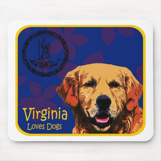 Virginia Golden Retriever Mouse Pad