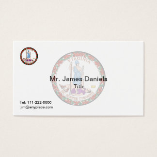 Virginia Great Seal Business Card