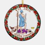 Virginia Great Seal Christmas Tree Ornaments