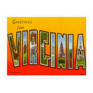 Virginia Greetings From US States Postcard