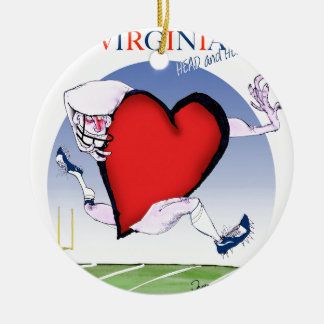 Virginia head heart, tony fernandes ceramic ornament