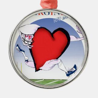 Virginia head heart, tony fernandes metal ornament