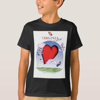Virginia head heart, tony fernandes T-Shirt