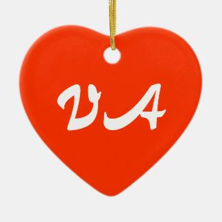 Virginia Heart Ornament