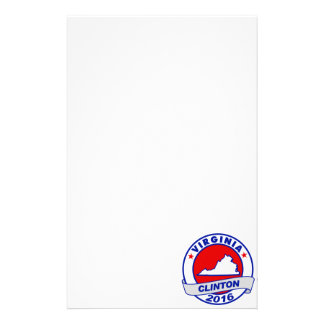 Virginia Hillary Clinton 2016.png Personalized Stationery