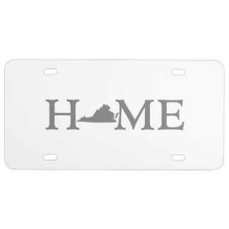 Virginia HOME State License Plate