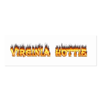 Virginia hottie fire and flames business card templates