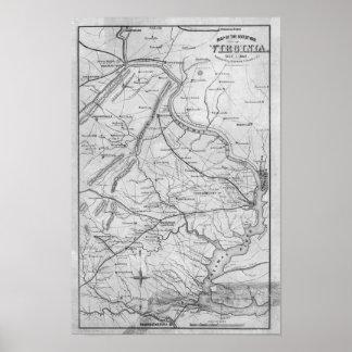 Virginia in the Civil War Poster
