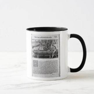 Virginia Indians making dugout boats Mug