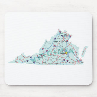 Virginia Interstate Map Mousepad