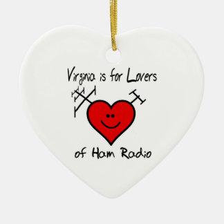 Virginia is For Lovers of Ham Radio Xmas Ornament