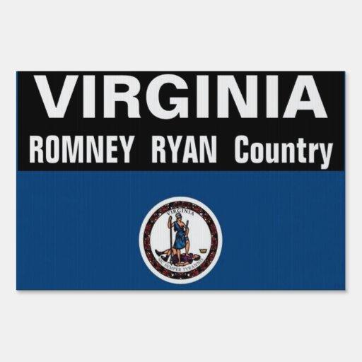 Virginia is Romney Ryan Country Sign