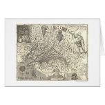 Virginia John Smith Map 1624 Card
