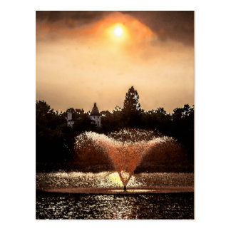 Virginia Lake Fountain Postcard