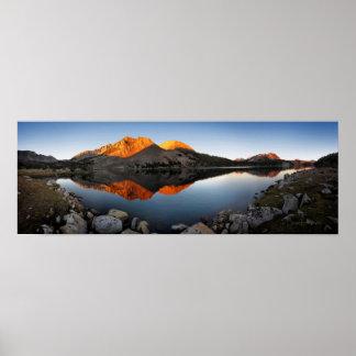Virginia Lake Sunset Alpenglow - John Muir Trail Poster