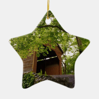 Virginia Landmark Double-Sided Star Ceramic Christmas Ornament
