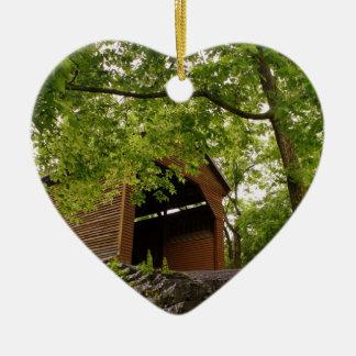 Virginia Landmark Double-Sided Heart Ceramic Christmas Ornament