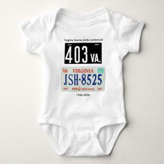 Virginia license plate centennial baby bodysuit