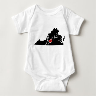 Virginia Love!  Gifts for VA Lovers Baby Bodysuit