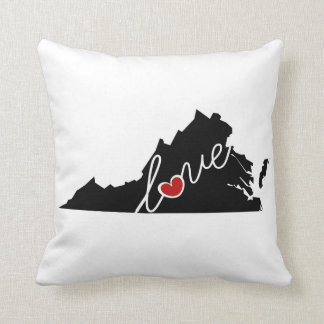 Virginia Love!  Gifts for VA Lovers Throw Pillows