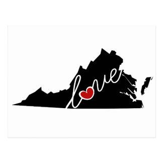 Virginia Love!  Gifts for VA Lovers Postcard