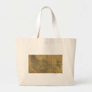 Virginia Map Alexandria to the Potomac River 1860 Large Tote Bag