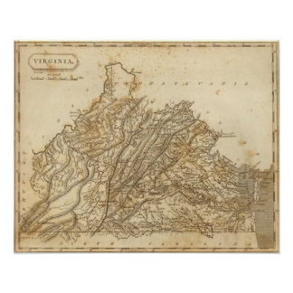 Virginia Map by Arrowsmith Print